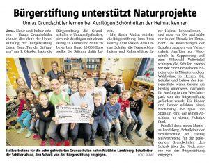 Bürgerstiftung unterstützt Naturschutzprojekte